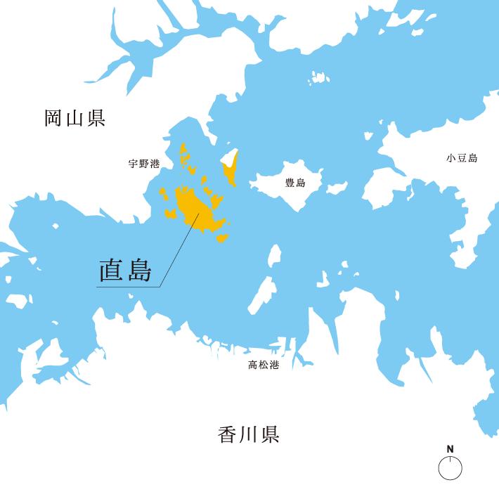 直島周辺MAP